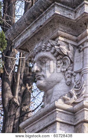 Emperor Head Statue