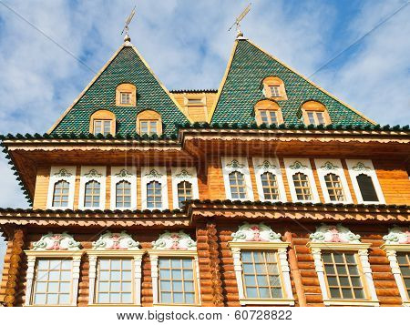 Towers Of Great Wooden Palace In Kolomenskoe