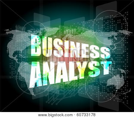 Business Concept, Business Analyst Digital Touch Screen Interface