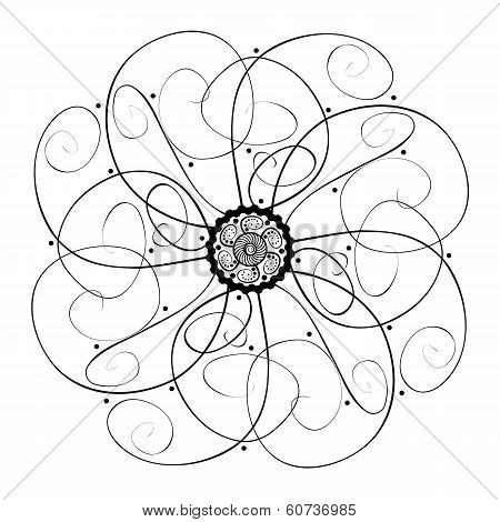 Abstract Decorative Bur (Vector), Patterned design