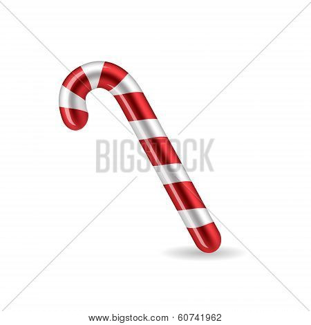 Candy Cane isolated on white background. Vector