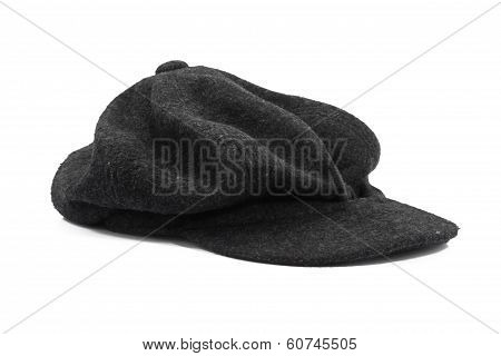 beret black isolated