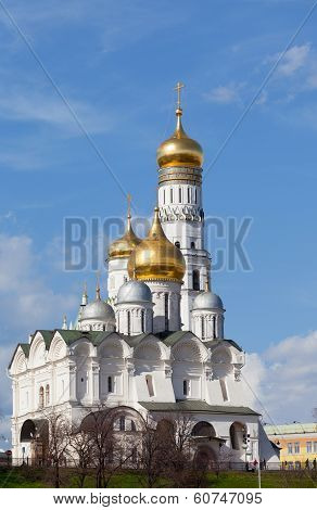 Moscow Kremlin Ivan Velikogo's belltower in the spring