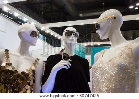 Mannequins Wearing Sunglasses At Mido 2014 In Milan, Italy