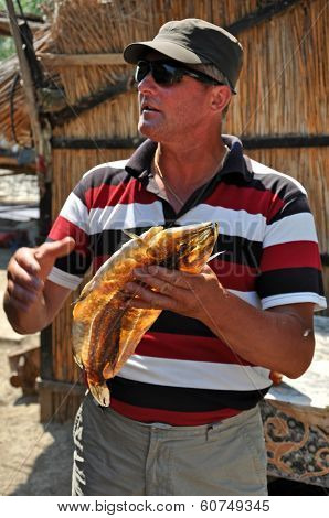 Fisherman In The Danube Delta, Romania