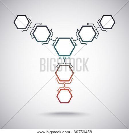 Communication Of Seven Hexagonal Cells. Gradient