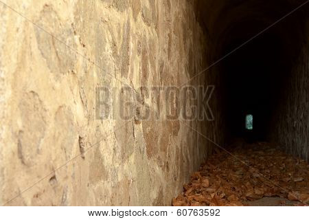 Misteryous old rock tunnel