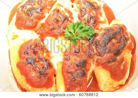 Baked Stuffed Pasta Shells