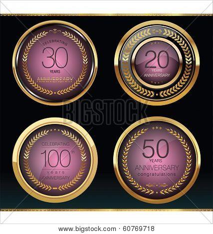Anniversary golden label