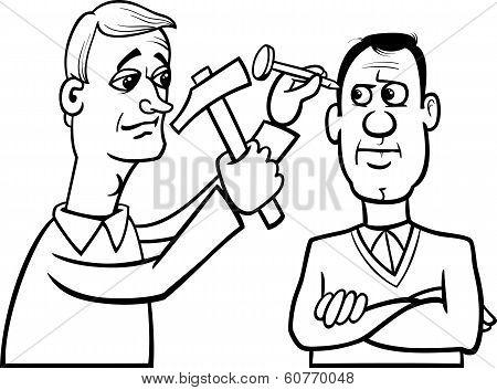 Hit The Nail On The Head Cartoon