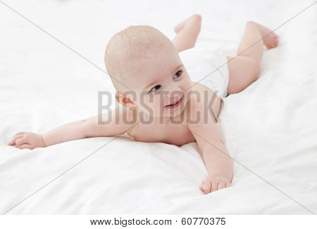 The cute baby
