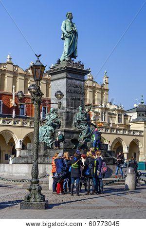 Monument To Adam Mickiewicz, Krakow