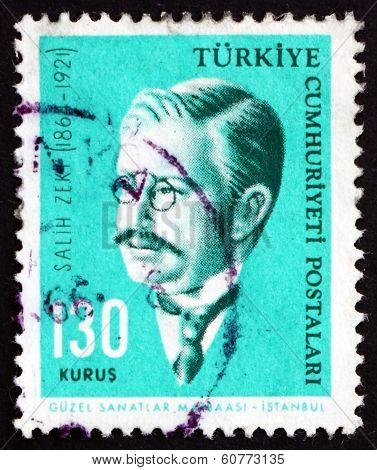 Postage Stamp Turkey 1964 Salih Zeki, Ottoman Mathematician
