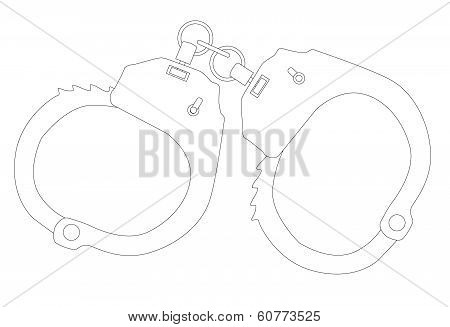 Handcuffs Outline
