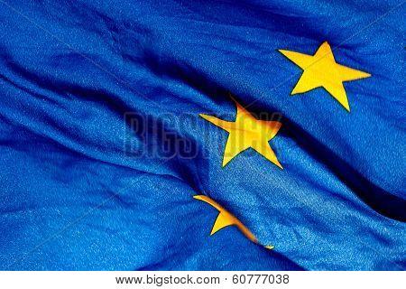 Detail  Of The Waving European Union Flag