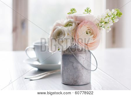 Flowers And Cup