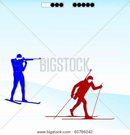 Biathlon competition-