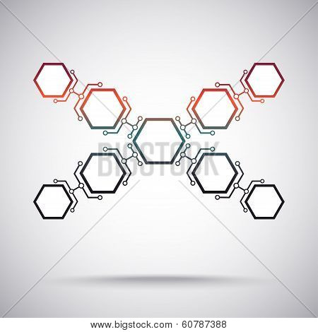 Communication Of Nine Hexagonal Cells