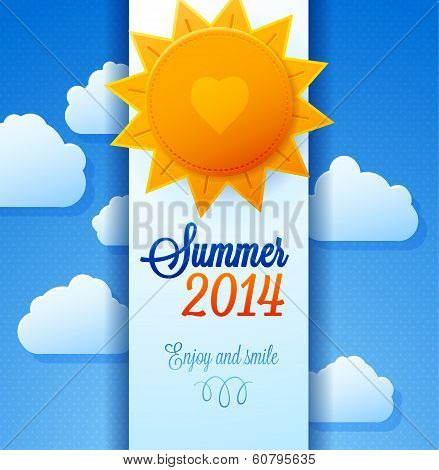 Sun background for summer Hot  poster.