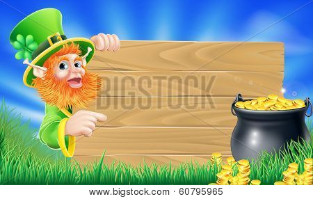 Saint Patricks Day Leprechaun Scene