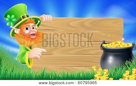 Saint Patricks Day Leprechaun Scene