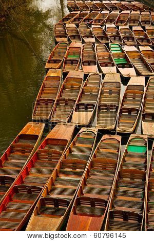 Punts in Oxford.