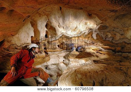 Geological Formations In A Cave