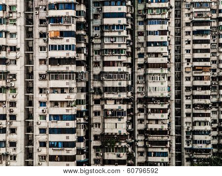 Block Of Flats In Chinese City