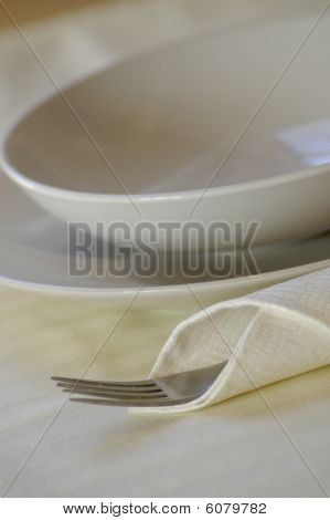 Plates and fork
