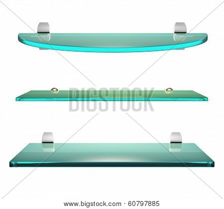 Glass Shelf Set