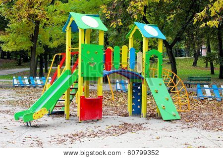 Children's Slide At The Park