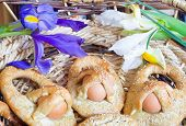 picture of messina  - Traditional Sicilian Easter cookies with eggs named cuddure - JPG