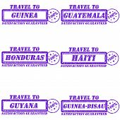 picture of guinea  - Set of stamps travel to guinea - JPG