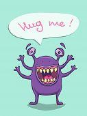 foto of bigfoot  - Cute smiling monster need a hug - JPG