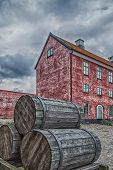 Landskrona Citadel With Barrels