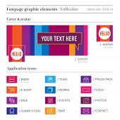 Social Media Funpage Elements Fullcolor