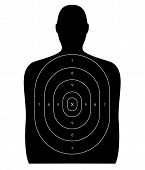pic of shooting-range  - Gun firing range target shaped like a human blank with no bullet hole - JPG