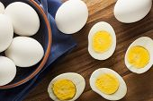 foto of hard-on  - Organic Hard Boiled Eggs Ready to Eat - JPG