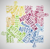 foto of aspergers  - Tag or word cloud Autism awareness related - JPG