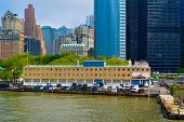 stock photo of coast guard  - NYC Coast Guard Headquarters taken on a sunny day - JPG