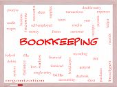 Bookkeeping Word Cloud Concept On A Whiteboard