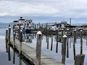 stock photo of burlington  - The harbor on Lake Champlain - JPG