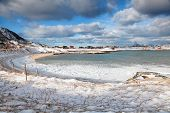 Winter Norway  Scenery : Frozen Beach Of Sommaroy