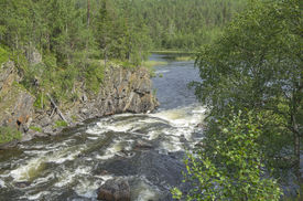 picture of murmansk  - Rapids at the confluence of the river into the lake - JPG