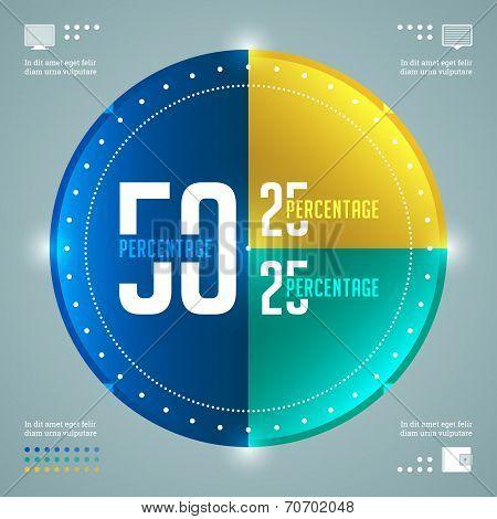 Modern Infographics Vector Template. Percentage Circles Diagram. Vector EPS10 Concept Illustration