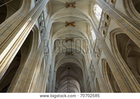 Pilars in Cathedral Nantes