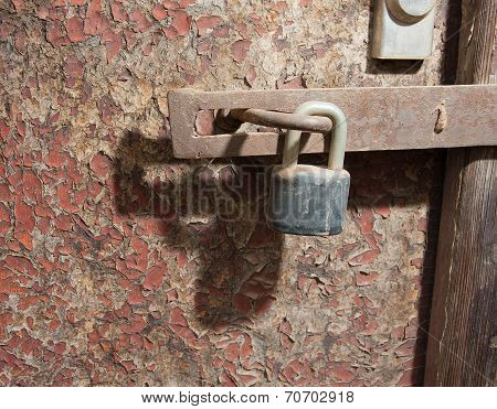 Old Door And Lock