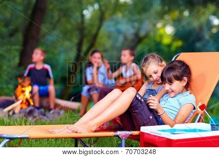 Kids Having Fun In Summer Camp