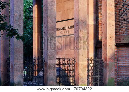 KALININGRAD, RUSSIA - July 26, 2014: Tomb Of Immanuel Kant Summer Evening