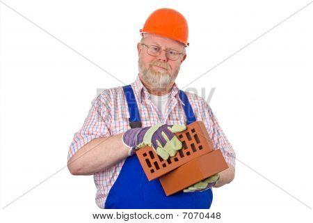 Bricklayer With Bricks